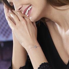 Bracelet Eliana Or Blanc Topaze Et Oxyde De Zirconium - Bracelets chaînes Femme | Marc Orian