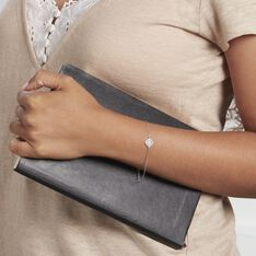 Bracelet Raskia Argent Blanc Oxyde De Zirconium - Bracelets chaînes Femme | Marc Orian