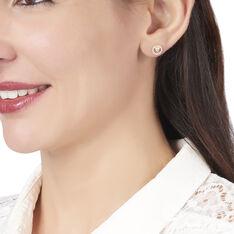 Boucles D'oreilles Puces Lila Plaque Or Jaune Oxyde De Zirconium - Clous d'oreilles Femme | Marc Orian