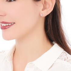 Boucles D'oreilles Puces Yléna Plaque Or Jaune Oxyde De Zirconium - Clous d'oreilles Femme | Marc Orian