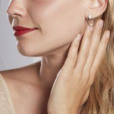 Boucles D'oreilles Pendantes Mahelia Argent Blanc Oxyde De Zirconium - Boucles d'oreilles Pendantes Femme | Marc Orian