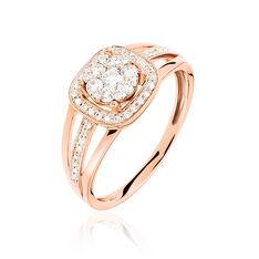 Bague Eleonore Or Rose Carree  Diamants - Parure de mariage Femme | Marc Orian