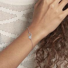 Bracelet Blandine Argent Blanc - Bracelets chaînes Femme | Marc Orian