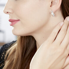 Boucles D'oreilles Pendantes Haze Argent Blanc Oxyde De Zirconium - Boucles d'oreilles Pendantes Femme | Marc Orian