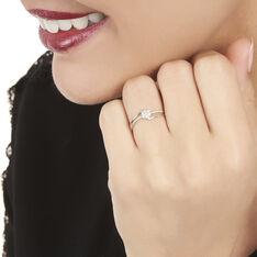 Bague Solitaire Atalante Or Blanc Diamant - Bagues Solitaire Femme | Marc Orian