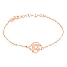 Bracelet Argent Rose Ettie Fleur Ajouree - Bracelets chaînes Femme   Marc Orian