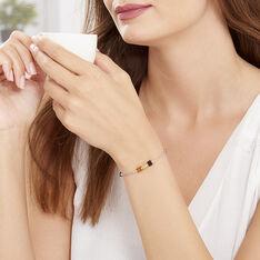 Bracelet Ridaae Argent Blanc Ambre - Bracelets chaînes Femme | Marc Orian