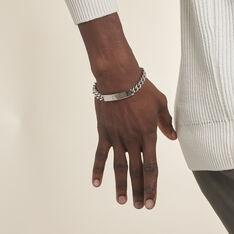 Bracelet Identité Adoline Or Acier Bicolore Diamant - Gourmettes Homme | Marc Orian