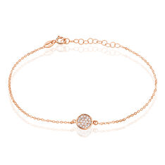 Bracelet Helinie Or Rose Oxyde De Zirconium - Bracelets chaînes Femme   Marc Orian