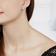 Bijoux D'oreilles Kyoto Or Blanc Oxyde De Zirconium - Boucles d'oreilles Ear cuffs Femme | Marc Orian