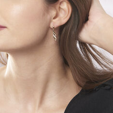 Boucles D'oreilles Pendantes Ishaae Plaque Or Jaune Oxyde De Zirconium - Boucles d'oreilles Pendantes Femme | Marc Orian