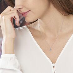 Collier Melyahae Or Blanc Topaze Et Diamant - Colliers Femme   Marc Orian