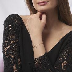 Bracelet Alexandra Plaque Or Jaune Oxyde De Zirconium - Bracelets chaînes Femme | Marc Orian