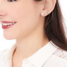 Boucles D'oreilles Puces Eve Argent Blanc Oxyde De Zirconium - Clous d'oreilles Femme | Marc Orian