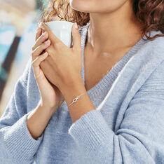 Bracelet Veda Argent Blanc Oxyde De Zirconium - Bracelets chaînes Femme | Marc Orian