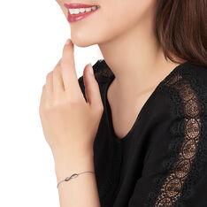 Bracelet Argent Rhodie Alizée Vague Oxyde - Bracelets chaînes Femme | Marc Orian