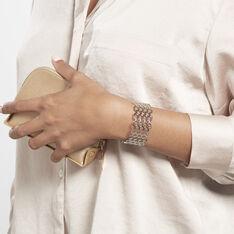 Bracelet Manchette Ouvert Acier Blanc Buglose - Bracelets manchettes Femme | Marc Orian
