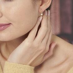 Boucles D'oreilles Pendantes Anne-maudae Pendantes Coeurs Or Jaune - Boucles d'oreilles Pendantes Femme   Marc Orian