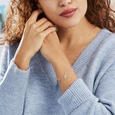 Bracelet Fabia Argent Blanc - Bracelets chaînes Femme | Marc Orian