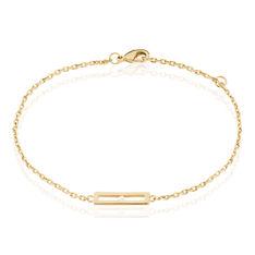 Bracelet Liloo Plaque Or Jaune Diamant - Bracelets chaînes Femme   Marc Orian