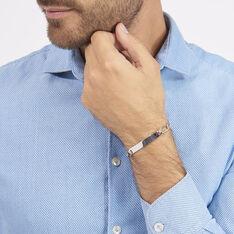 Bracelet Identité Anilo Maille Alternee 1/1 Argent Blanc - Gourmettes Homme | Marc Orian
