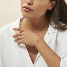 Bracelet Trinitie Or Blanc Saphir Diamant - Bracelets chaînes Femme | Marc Orian
