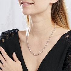 Collier Ciska Argent Blanc - Sautoirs Femme | Marc Orian