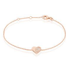 Bracelet Lovilana Argent Rose Oxyde De Zirconium - Bracelets chaînes Femme | Marc Orian