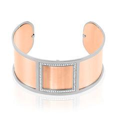 Bracelet Jonc Acier Blanc Strass - Bracelets jonc Femme | Marc Orian