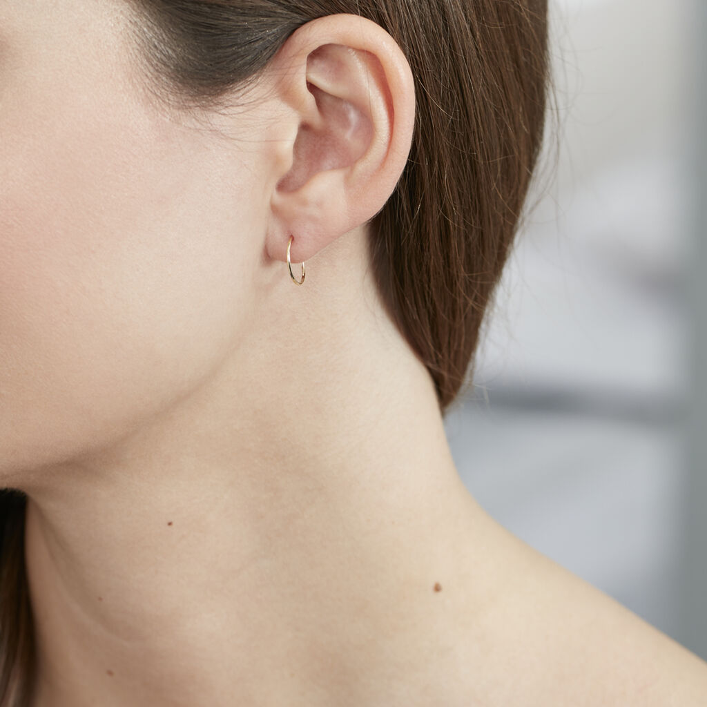 Créoles Muses Flexibles Or Jaune - Boucles d'oreilles Créoles Femme   Marc Orian