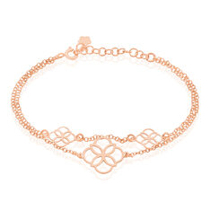 Bracelet Letizia Argent Rose - Bracelets chaînes Femme | Marc Orian