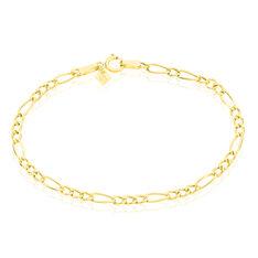 Bracelet Or Jaune Maille Alternee Esra - Bracelets mailles Enfant | Marc Orian