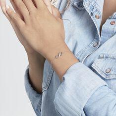 Bracelet Flavia Argent Blanc - Bracelets chaînes Femme | Marc Orian