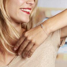 Bracelet Amita Argent Blanc Oxyde De Zirconium - Bracelets chaînes Femme   Marc Orian