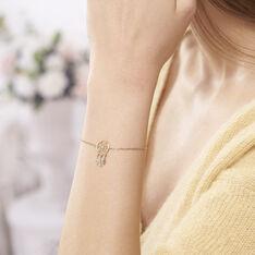 Bracelet Attrape Reves Plaque Or Jaune Pierre De Synthese - Bracelets chaînes Femme | Marc Orian