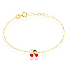 Bracelet Cherry Cerise Or Jaune - Bracelets chaînes Enfant | Marc Orian