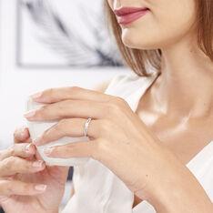 Bague Solitaire Katalina Or Blanc Diamant - Bagues Solitaire Femme | Marc Orian
