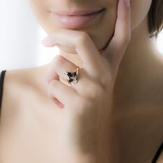 Bague Dahlia Or Jaune Saphir Diamant - Bagues Femme | Marc Orian