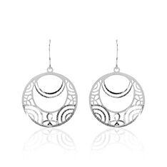 Boucles D'oreilles Pendantes Celtes Argent Blanc - Boucles d'oreilles Pendantes Femme | Marc Orian