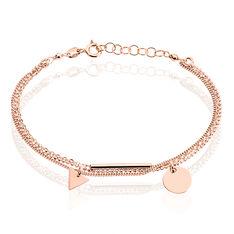 Bracelet Argent Rose Daina Pastille - Bracelets chaînes Femme | Marc Orian