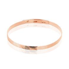 Bracelet Jonc Rebiha Argent Rose - Bracelets jonc Femme | Marc Orian