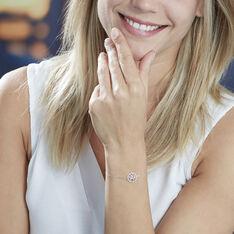 Bracelet Aarona Or Blanc Diamant - Bracelets chaînes Femme | Marc Orian