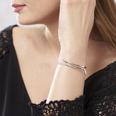 Bracelet Jonc Maisha Argent Blanc - Bracelets fantaisie Femme | Marc Orian