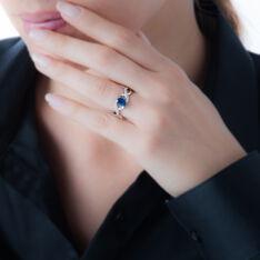 Bague Or Blanc Jess Saphir Diamants - Bagues Solitaire Femme | Marc Orian