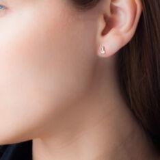 Boucles D'oreilles Pendantes Clementa Or Jaune Oxyde De Zirconium - Boucles d'oreilles Pendantes Femme   Marc Orian