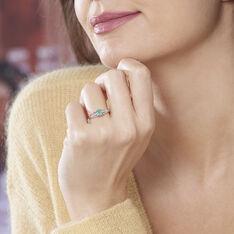 Bague Denise Or Blanc Emeraude Et Diamant - Bagues Femme | Marc Orian