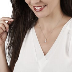 Collier Or Blanc Coeur Oxydes - Colliers Femme | Marc Orian