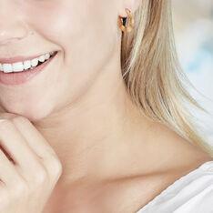 Créoles Keara Plaque Or Jaune - Boucles d'oreilles Créoles Femme   Marc Orian