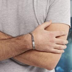 Bracelet Hugo Acier Blanc - Gourmettes Homme | Marc Orian