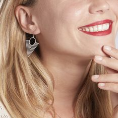 Boucles D'oreilles Pendantes Assala Argent Blanc - Boucles d'oreilles Pendantes Femme | Marc Orian
